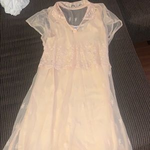 Dresses & Skirts - Peach 2pc Lace Dress*Bridal*Brunch*Church Sz M/8